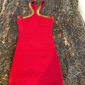 Wow Couture bandage red dress